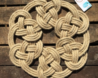 Mural Decoration - Rope Suspension - Table Path - Carpet - Marine Decoration - Hemp - Souvenir of Brittany - Holiday Gift