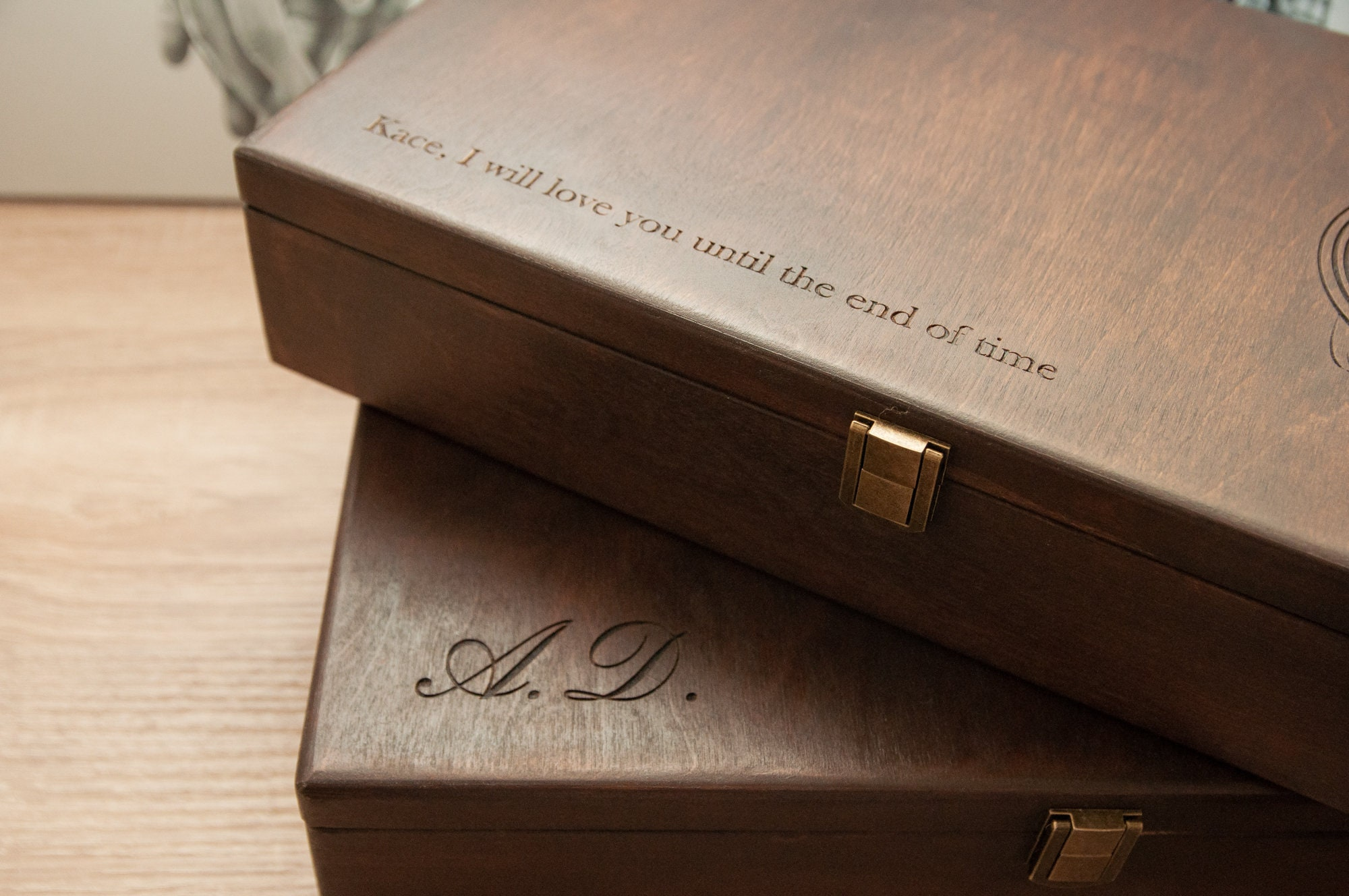 Mens jewelry box Hetch DS7 engraved Wooden watch box for ...