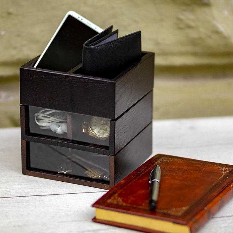 033ef951a7 Man jewelry box Waid DS6 Man accessory box Wooden valet box