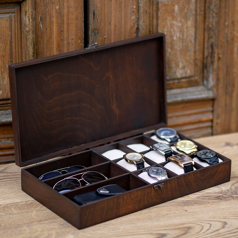 08568eaf26 Wooden jewelry box for watch and accessories Hetch DS7 Wooden