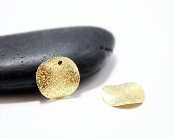 "16mm - set of 15 round sequins gold sparkly ""Stardust"""