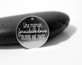 GRAND mother engraved pendant saying EDITION