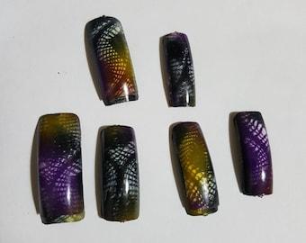 4 sets  fake nails