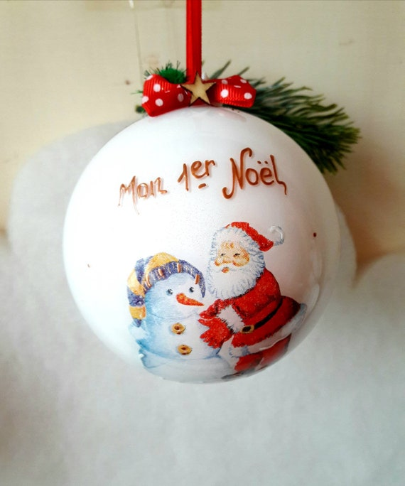 Personalised Baby/'s First//1st Arbre de Noël Décoration