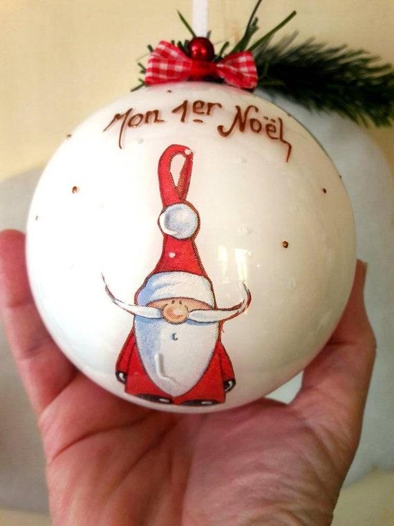 Boule De Naissance Noel Boule de Noël naissance mon 1er Noël décoration de Noël | Etsy