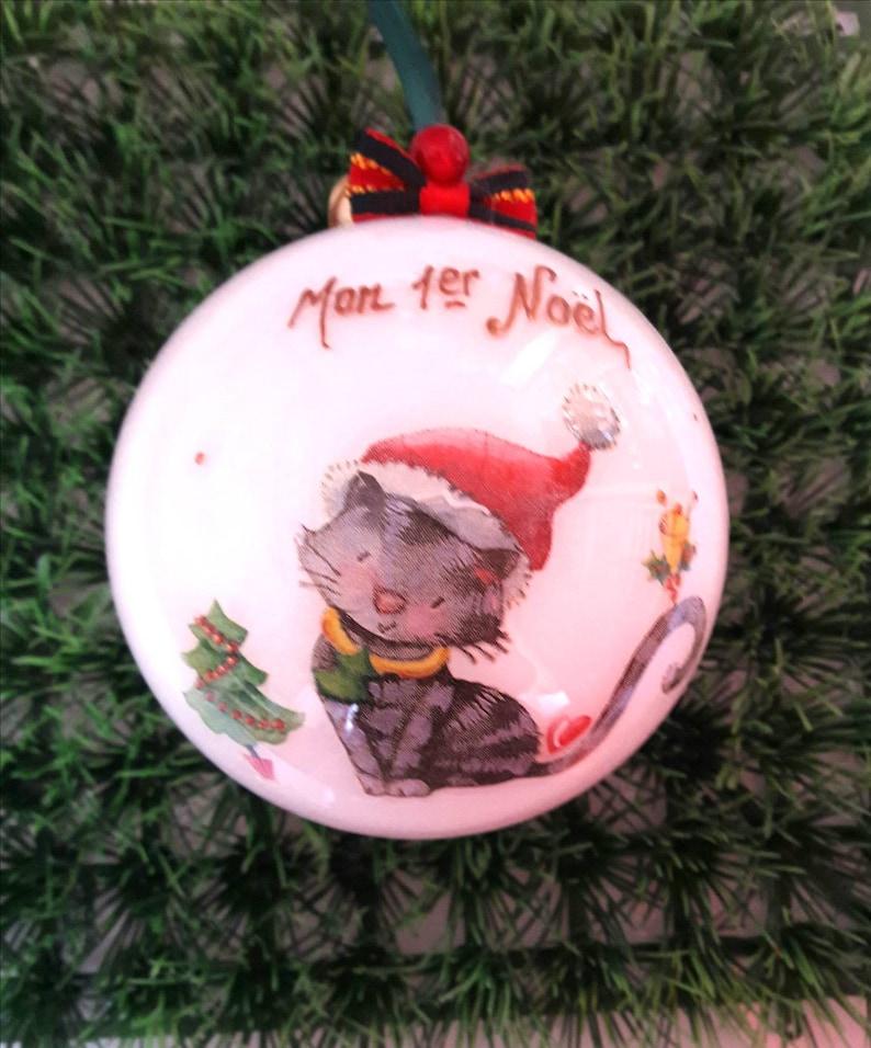 Christmas kittens Christmas ball birth my 1st Christmas beanie Christmas decoration