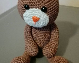 Plush teddy bear crochet toy