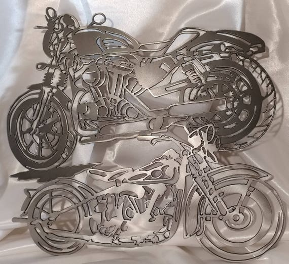 Metal Motorcycle Motorcycle Wall Art Motorcycles Double | Etsy