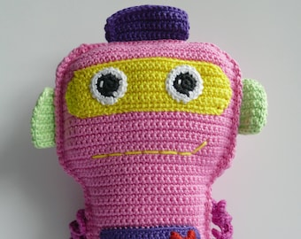 Cuddly plush amigurumi cotton robot Emerson