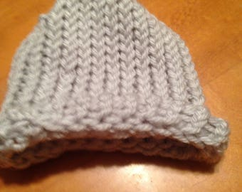 Causal knitted baby hat
