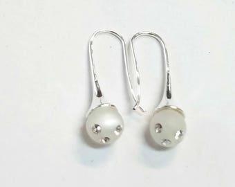 earring drop white