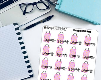 Shopping Text/Doodle Stickers for the Erin Condren Life Planner, Happy Planner and More!