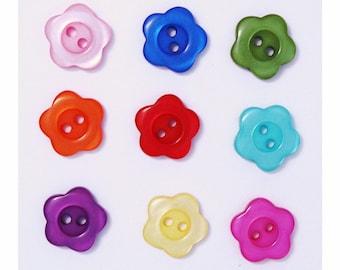 10 mm Vert Fleur Paillettes Boutons 2 Trou disponible en boîtes de 2 5 ou 10