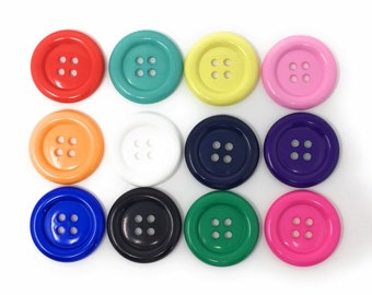 Lot of 4 Navy button Blue button Large button  1 38 34mm