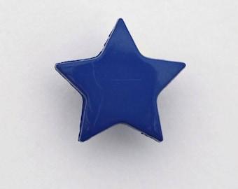 Set of 6 x 14mm blue - 001660 star buttons