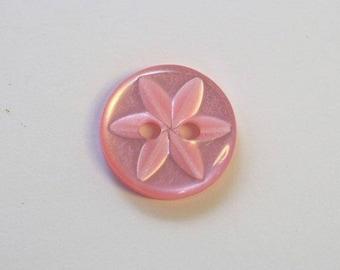 11 mm x 20 Dark Rose 2 holes - 001606 star button