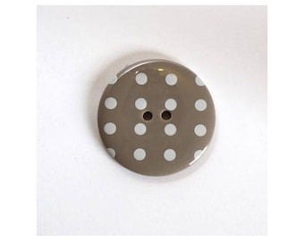 Big buttons 34mm Beige - 001116 polka