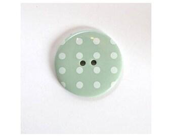Big buttons 34mm light green dot - 001126