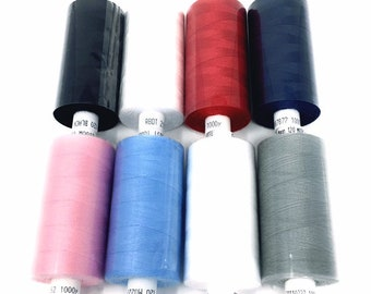 Moon Sewing Thread in Polyester 915 Meters Color to Choose From / Sewing Thread Reel / Sewing / Haberdashery
