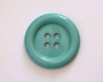 Big buttons 38mm diameter Clown: Turquoise - 002051