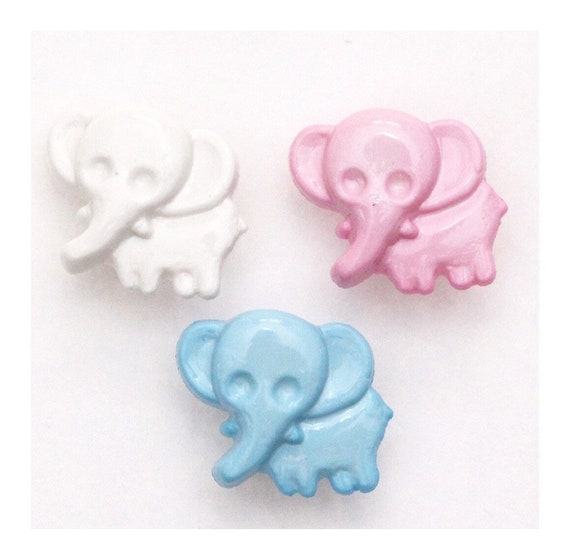 Elephant Buttons 15mm