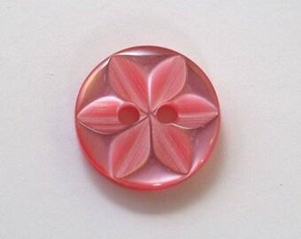 14 mm x 20 Dark Rose 2 holes - 001636 star button