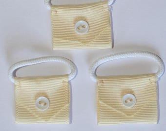 5 x mini handbag cream - 000785 appliques