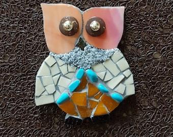 Mattonelle di mosaico di gufo etsy