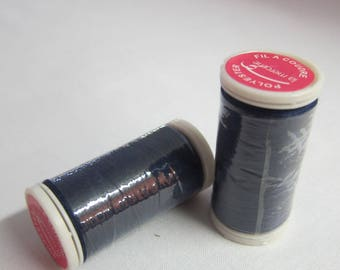 Thread blue 100% polyester 200 m