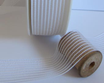 Shirring elastic white 30 mm the meter