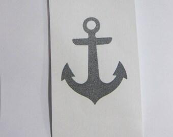 applied Flex fusible anchor Navy grey