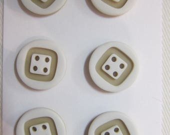 2 buttons 4 hole two-tone beige 15 mm