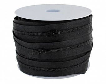 Spiral zipper (3.8 mm) black