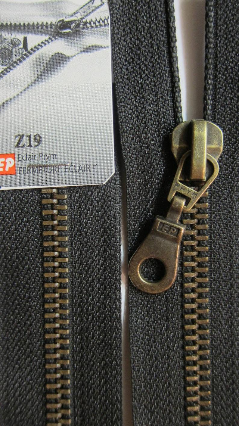 70 cm black brass zipper closure detachable brass Prym