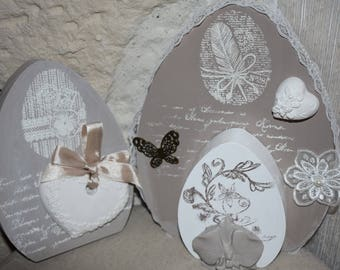 My wooden Easter eggs and everything in elegance