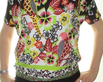 "T-shirt sleeve short ""we're dancing colors"" - custom"