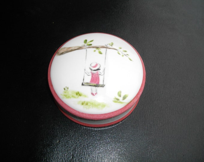 small candy / handpainted / porcelain/little girl