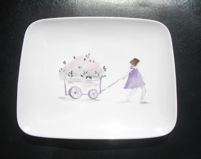 porcelain/hand painted dessert plate