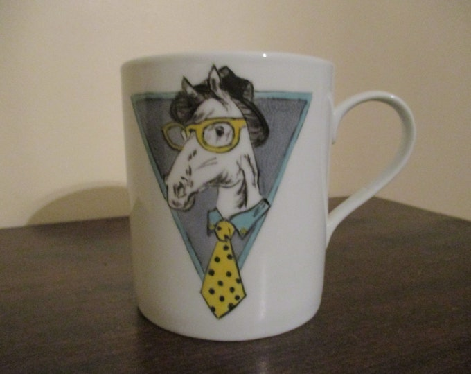 RESERVED ANNE Mug/Cup/painted porcelain/handmade/horse