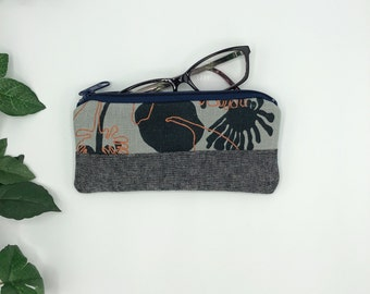 Eye Glass case, Blue Seed Pods