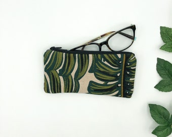 Eye Glass case, Monstera Leaf