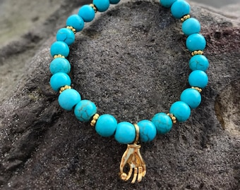 The Turquoise Dancer Hand Bracelet