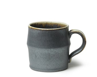 Pottery Coffee Mug with Original Glaze Handmade Japanese Cup Ceramic Tea Stoneware wabi sabi eco friendly Kei Kawachi