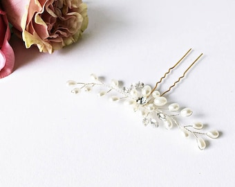 1x Bridal Hair Jewelry Beads: Crystals Flower Shape
