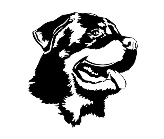 Rottweiler Dog Love Decal Paw Heart Sticker Car Laptop Rotty Puppy Animal Rescue