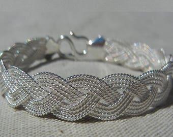 Silver 990 way braided Wire Bracelet