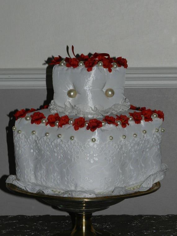 Hochzeitstorte Kissen Tur Allianzen Ehe Taft Blumen Perlen Etsy