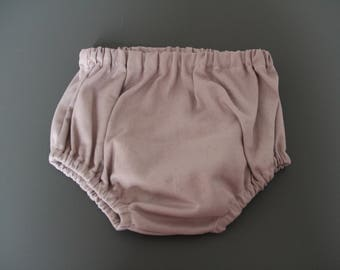 Baby bloomers / girl in pink cotton