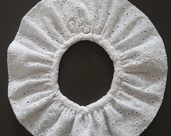 White embroidery removable collar for baby or girl