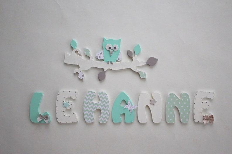 Kinderzimmer aus Holz Kind Zimmer Namen Buchstaben | Etsy